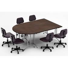 charming half round meeting table with modular conference tables youll love wayfair