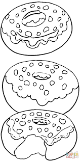 Small Picture Tasty Donuts coloring page Free Printable Coloring Pages