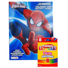 Over 1000 coloring pages for kids, easy to print! Marvel Spider Man Coloring Book Neon Crayon Set Walmart Com Walmart Com