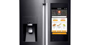 samsung refrigerator touch screen. here\u0027s why samsung\u0027s new frankenstein fridge is actually dumb | techcrunch samsung refrigerator touch screen