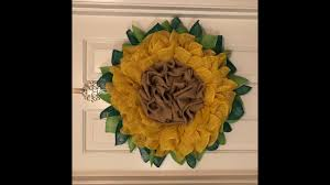 easy standard burlap sunflower wreath only two simple fl frames
