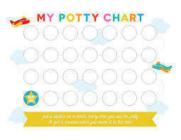Potty Chart Kids Learning Activity