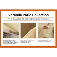 Classic accessories® veranda outdoor loveseat cover. Classic Accessories Veranda Rectangular Patio Coffee Table Cover 55 121 011501 00 The Home Depot
