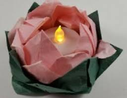 Paper Lotus Flower Details About New Origami Lotus Flower Tea Light Gift Box Mulberry Paper Folded Handmade Pink