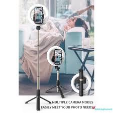 Đèn Led Tròn Hỗ Trợ Chụp Ảnh / Trang Điểm / Quay Video - Gậy selfie