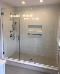 the additional header bracing will also minimize shower door enclosure flex