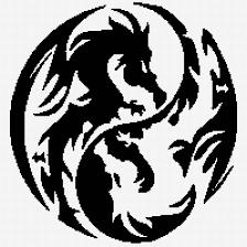 драконы инь янь картинки