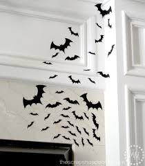 arrange the bats on your surface starting with the smallest and working up to the largest to give them depth