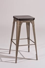 hilale morris backless bar stool dark gray black wood