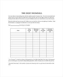 Debt Snowball Calculator Template Reduction Spreadsheet