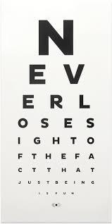 Typographic Print Fun Eye Chart Contemporary Art Design