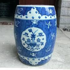 blue garden stool. Garden Drum Stool Ceramic Stools Large Porcelain With Prepare 19 Blue