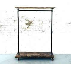 rustic clothes rack contemporary industrial clothing rack throughout style pipe remodel rustic clothes drying rack