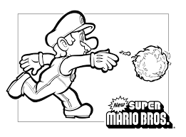 Small Picture Mario Coloring Pages New Super Brothers Pages glumme