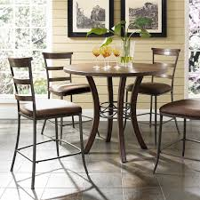 dining table chairs leather. hillsdale cameron 5 piece counter height round wood dining table set with parson chairs | hayneedle leather
