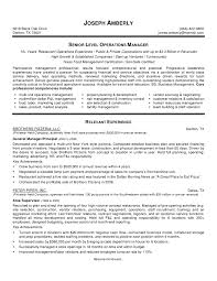 cover letter sample of management resume sample of senior cover letter restaurant management resume templates for trainee or cook food samples collection managerssample of management