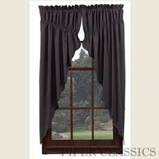 Red Swag Kitchen Curtains Prairie Gathered Swag Curtains Country Style Curtains