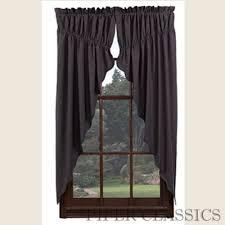 Primitive Country Kitchen Curtains Prairie Gathered Swag Curtains Country Style Curtains