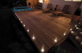 Image of: Solar Deck Lights White