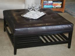 Full Size Of Coffee Tables:mesmerizing Brown Round Leather Ottoman Coffee  Table Ottomans Storage Faux ...