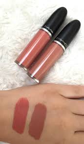 mac retro mac liquid lipcolours in lady be good and back in vogue
