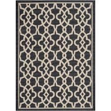 safavieh courtyard black indoor outdoor rug 2 x