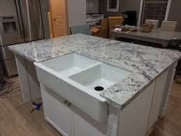 White Granite Kitchen Sink Granite Countertops Pros And Cons Adorable Grey With Pencil Edges