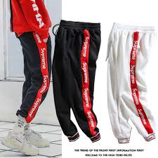 Designer Joggers Sale 2019 2019 European American Mens Pants Brand Casual Sports Designer Pants Side String Jacquard Ribbed Foot Cotton Comfortable Joggers Pants From