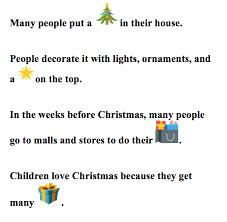 Christmas Through Emojis English Language Blog