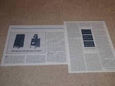 kef 105 2. kef 105 speaker review,1979, 2 pgs, full test, rare! kef i