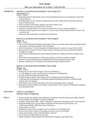 Regional Business Development Manager Resume Samples Velvet Jobs