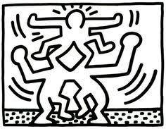Kleurplaat Keith Haring Google Zoeken Drawing Skills Keith