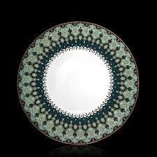 porcelain dinner plates online india. antalya teal \u0026 gold dinner plate porcelain plates online india p