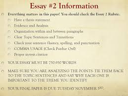 last minute advice essay revision suggestions everything matters  everything matters in this paper you should check the essay 2 rubric