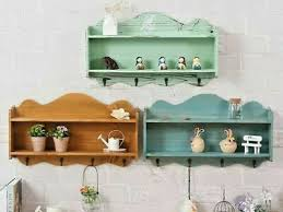 50cm wall shelves wooden distressed