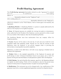 We've taken everything we learned from 2 billion in winning sales and created this contract library. Profit Sharing Agreement Template Download Printable Pdf Templateroller