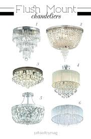 semi flush mount chandelier ceiling light polished