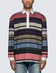 j w anderson striped rugby jersey long sleeve polo shirt