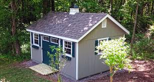 garden shed with wood siding