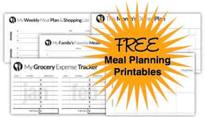 menu planner worksheet free menu planning templates