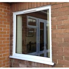 white upvc fixed window