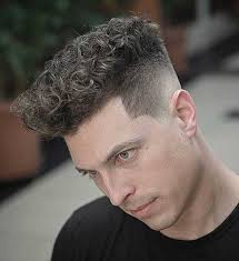 trendy curly hairstyles for men 2020