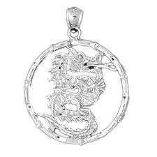 sterling silver 925 chinese zodiacs dragon pendant sterling silver pendants at jewelsobsession com