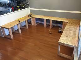 diydiningbooth plywoodseattops wonderful kitchen bench diy 11