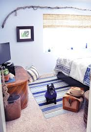 blue and white nautical beachy guest bedroom
