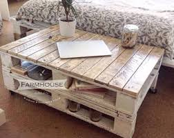 Rustic Pallet Coffee Table With Tapered Legs  Pallet Furniture DIYPallet Coffee Table With Hairpin Legs