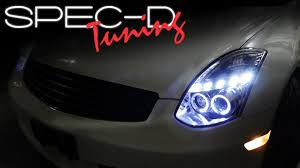 specdtuning installation video 2003 2007 infiniti g35 coupe specdtuning installation video 2003 2007 infiniti g35 coupe projector headlights