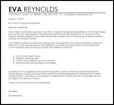 Community Support Worker Cover Letter Sample Livecareer With Cover