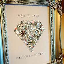 anniversary gift wall art decoration wedding anniversary diamond wedding ruby wedding on art swarovski frame personalised gift wedding