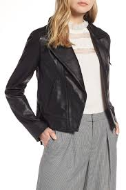 image of halogen halogen r leather moto jacket regular petite